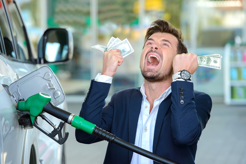 Angry Man Gas Prices